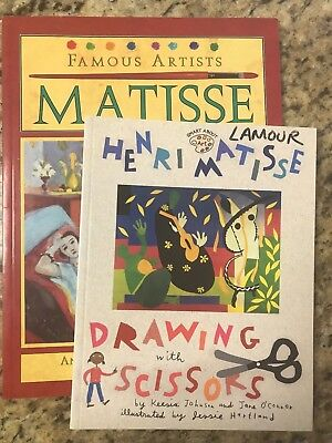 Henri Matisse : Drawing with Scissors & Famous Artists Matisse Lot of 2