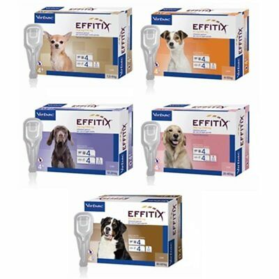 EFFITIX 4 pipette SPOT-ON pulci zecche e zanzare VIRBAC cane (for dog)