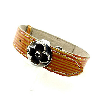 Louis Vuitton Bangle Bracelet Cyber Epi Orange Gold Woman Authentic Used Y2054