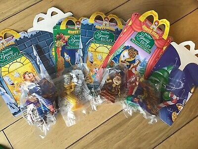McDonald's Beauty and The Beast Happy Meal Toys Vintage Full Set