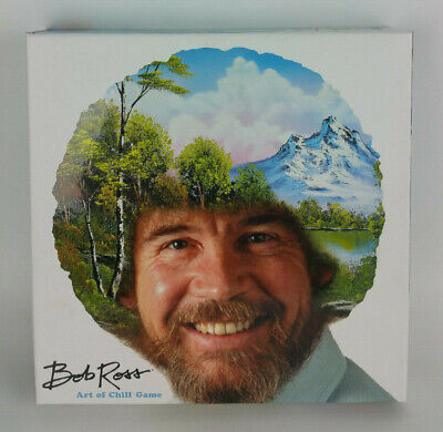 NEW Bob Ross the Art of Chill Board Game For 2-4 Players Artist Paint Paintings