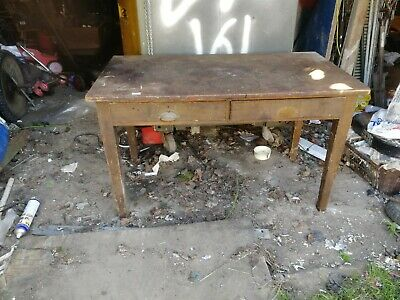 19th Century  desk Work Bench Table barn find rustic