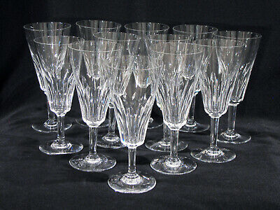 """12 Baccarat 6 1/4"""" Champagne Or Wine Stems - Val De Loire - Signed"""