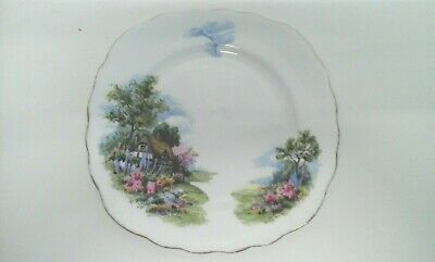 Royal Vale Square Shaped Side Plate - Country Cottage Design - Made in England