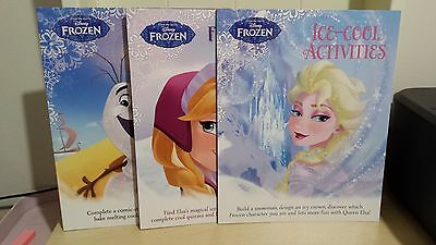 Collection of 3 x Disney Frozen Childrens Activity Books - NEW