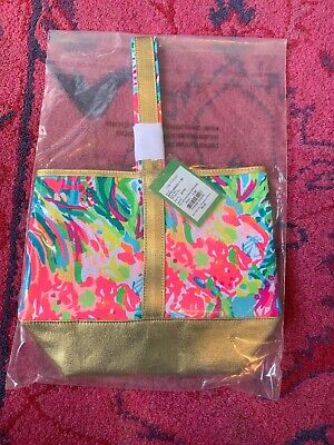 Lilly Pulitzer Nwt Wine Fan Sea Pants Multi Tote Bag In Package