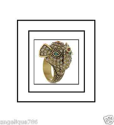 Heidi Daus Imperial Elephant Ring SIze 8 STAND ALONE PC WOW CRITTER LOVERS!
