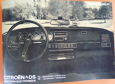 Notice d'emploi - Citroën DS 21 IE