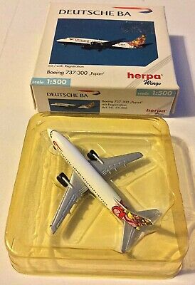 HERPA  WINGS 1/500 Deutsche BA Boeing 737-300 Popart Boxed Excellent