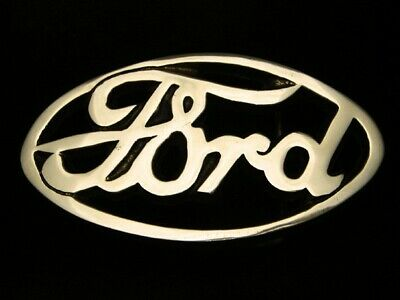RC13142 *NOS* VINTAGE 1970s **FORD MOTOR COMPANY** SOLID BRASS BARON BELT BUCKLE