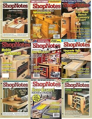 Shopnotes Magazine's DVD **COMPLETE RUN - EVERY ISSUE** + MANY EXTRAS Pdf's Wood