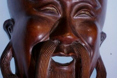 Chinese Woodcarved Mask Wall Hanging #2