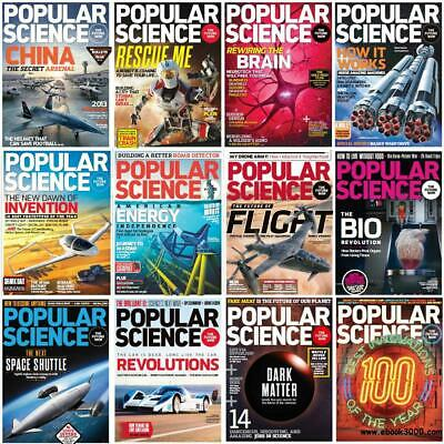 500+ Popular Science Magazine's Archives - 1970-2019  (3 DVDs) + Extras PDF's