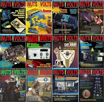 Nuts and Volts Magazine's Archives 2004-2019 (2 DVD's) 175 Issues + EXTRAS Pdf's