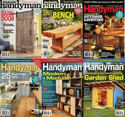 The Family Handyman Magazine's HUGE ARCHIVE (2 DVDs) **2008-2019** Extras Pdf's
