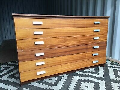 Plan Chest Architects Drawers Map