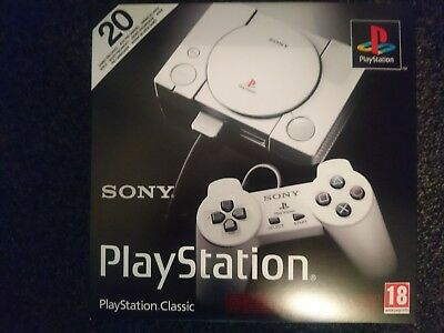 Sony Playstation Classic New 20 Pre-installed Games Two Controllers HDMI Cable