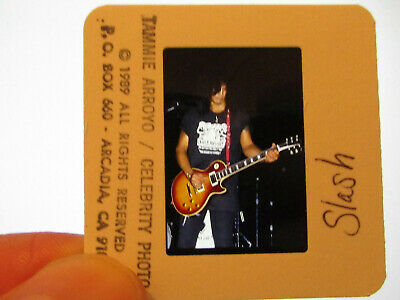 Original Press Promo Slide Negative - Guns N' Roses - Slash - 1989 - A