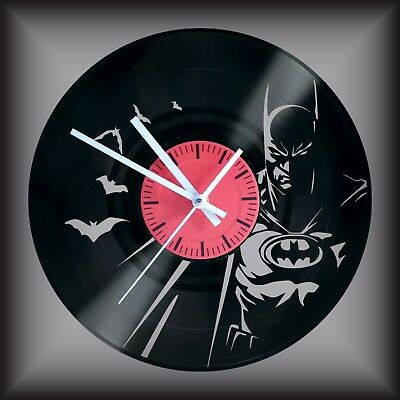 Reloj disco de vinilo LP Regalo original cumpleaños BATMAN SUPERHEROE COMIC