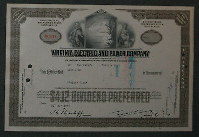 Virginia Electric and Power Company 1974 25 Shares .