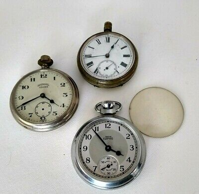 3 Gents Vintage/Antique Pocket Watches Inc Ingersoll & Smith's Spares Or Repair
