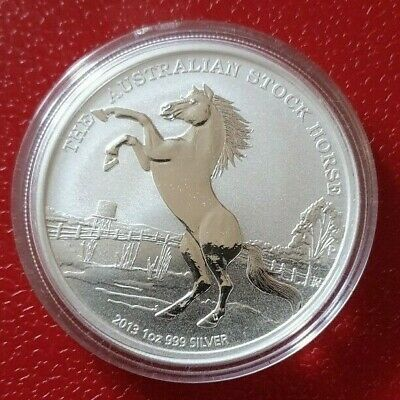 1oz Silver Coin 2013 Austrailian Stockhorse, Perth Mint. Rare !