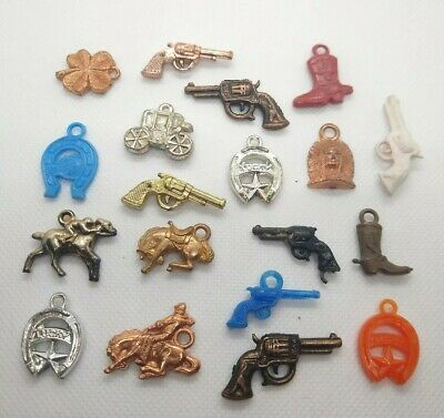 VINTAGE LOT PLASTIC GUMBALL CHARMS Cracker Jack Prize
