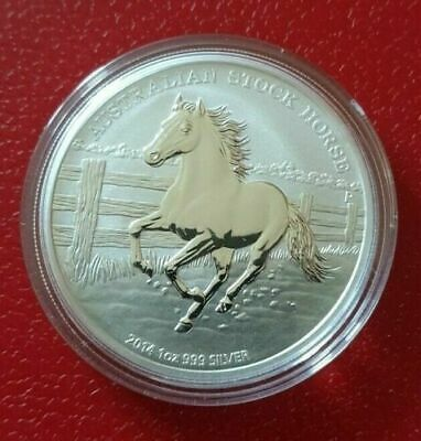 1oz Silver Coin 2014 Austrailian Stockhorse, Perth Mint. Complete with COA.