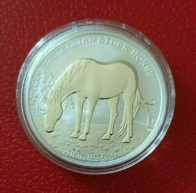 1oz Silver Coin 2016 Austrailian Stockhorse, Perth Mint. Much sought after.