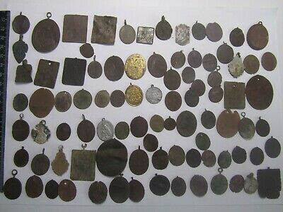 Metal detector finds.Mix lot  ancient pendant icon (19th century) 89 pieces. N83