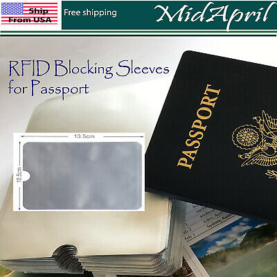 RFID Blocking Sleeves Travel Set for Security of PassPort
