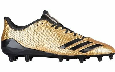 the best attitude aa894 fcb99 Adidas Men s Adizero 5-Star 6.0 Low Football Cleats 14 Met Gold Black   BW0777