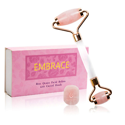 Rose Quartz Roller - Rose Quartz Roller for Face Included with Complimentary The