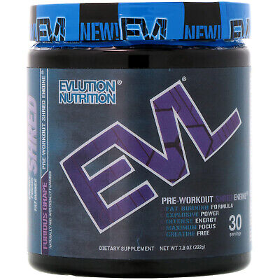 EVLution Nutrition, ENGN Shred, Pre-Workout Shred Engine, Furious Grape, 7.8 ...