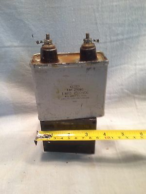 Cornell Dubilier C-D 1 mF uF 2500 CDC Paper Oil Capacitor 845 Tube Amplifier