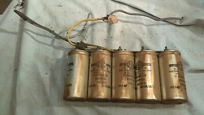 Capacitors from 1930's Theater Western Electric Power unit 5 X 650MFD 200WVDC #B