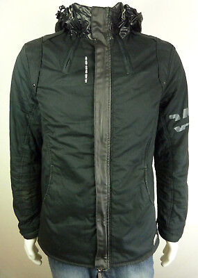 JACKET G STAR MAN Recolite Hooded Overshirt Size M Val