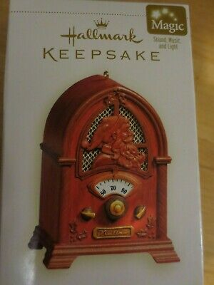 Vintage style, Hallmark Christmas, Radio ornament, Cathedral  Collectors, works!