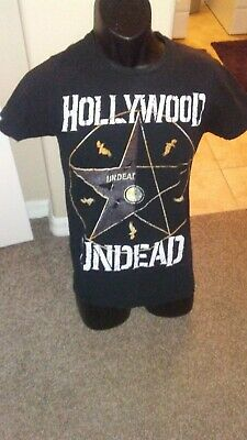 HOLLYWOOD UNDEAD 'Hollywood Star' BLACK T-SHIRT - SIZE SMALL - Rock Band