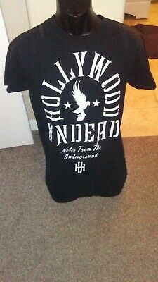 HOLLYWOOD UNDEAD 'Notes From The Underground' BLACK T-SHIRT - SIZE MEDIUM