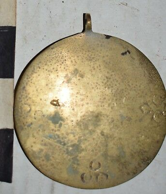 orig $499-2 NEPAL SHAMANS BRONZE MIRROR PENDANTS  EARLY 1900S 4""