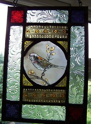 Victorian style stained glass panel.