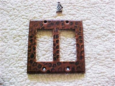 Vintage Hammered Copper Double Paddle Rocker GFI Switch Plate Cover