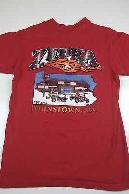 Vintage 1998 Harley Davidson Zepka Graphic T-Shirt Size M Johnstown 3d hd 90s