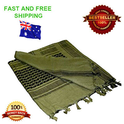 SHEMAGH - Real Quality 100% Cotton Tactical Shemagh - Military Scarf, Army Scarf