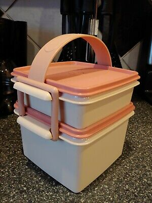 Tupperware Lunch Carrier Stacking Sandwich Keepers 1674 1362 1363 2529