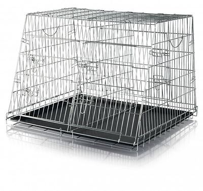 Trixie 3930 Cage de Transport, Zingué, Double, 90×64×79 Cm