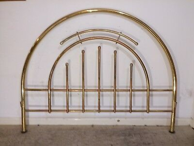 Ornate  Metal Headboard and Footboard for Double Bed Brass Finish
