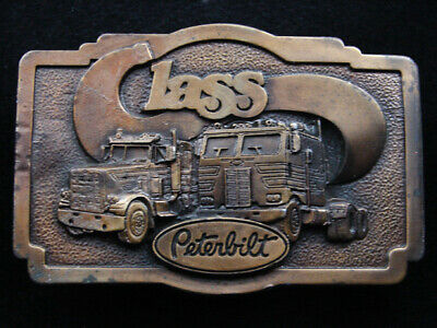 Rh13143 Vintage 1978 **Peterbilt Class** Truck Company Advertisement Belt Buckle