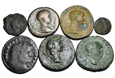 Group of 8 Ancient Roman Imperial Bronze Coins (001)